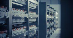 Data centre or server room batteries